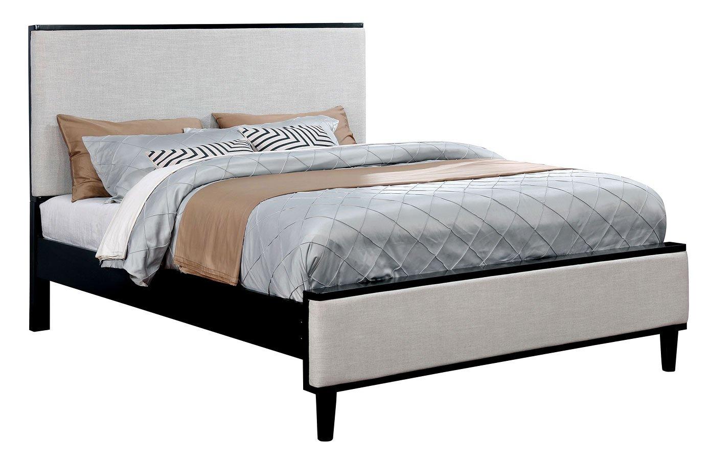 Lennart upholstered bed black beds bedroom furniture for Furniture n more beds