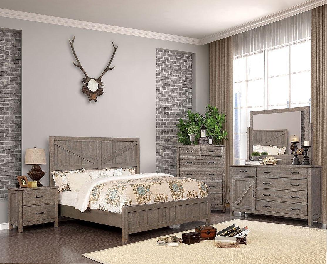 Brenna Panel Bedroom Set (Gray)