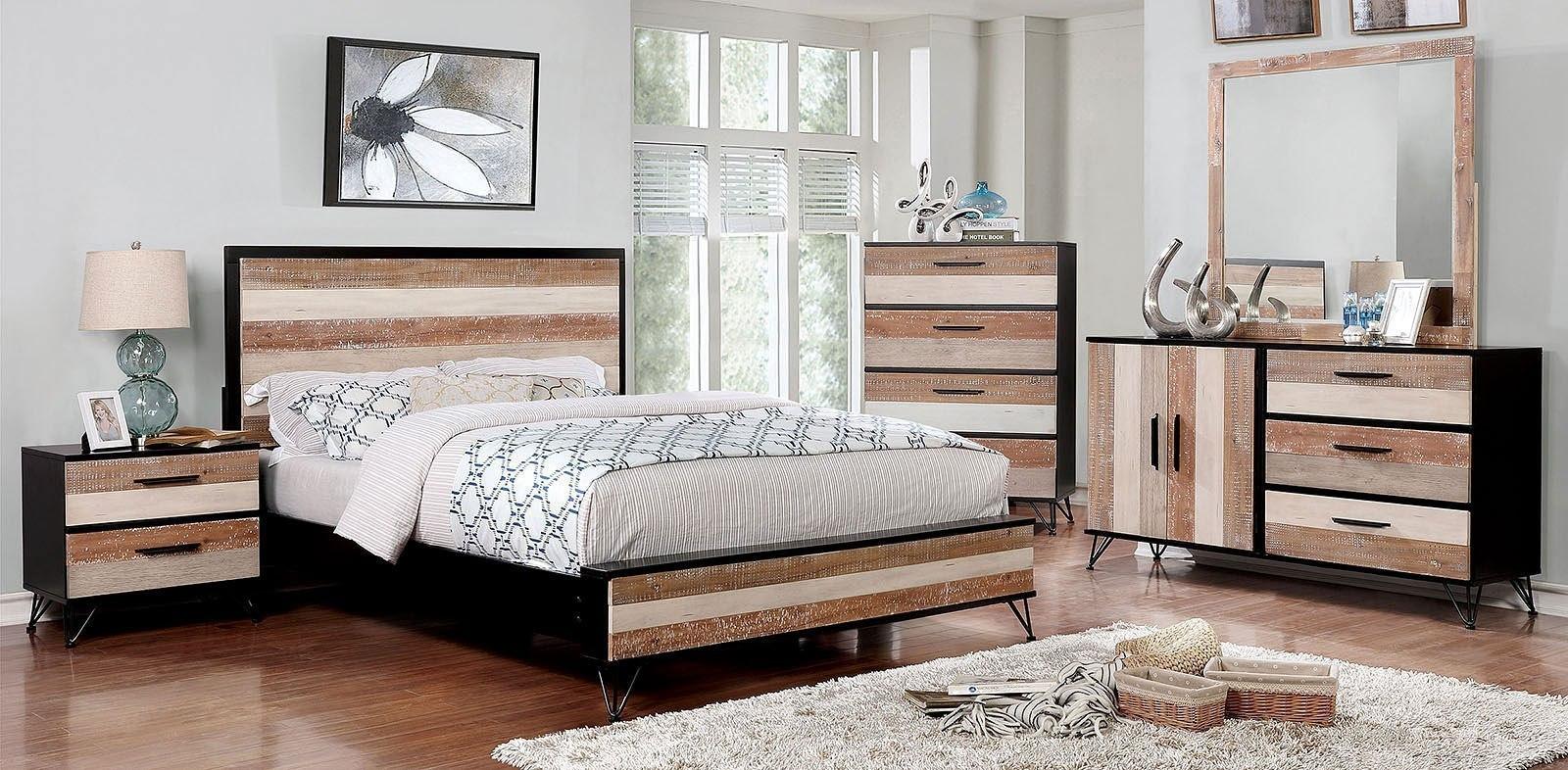Hasselt platform bedroom set espresso multiple by furniture of america furniturepick