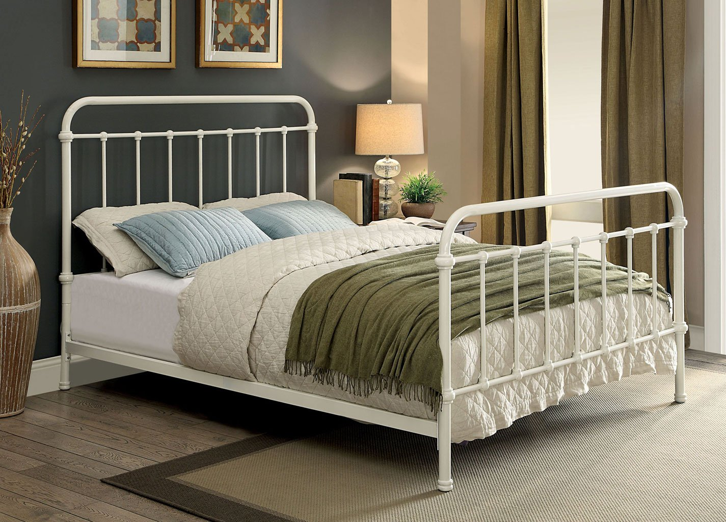 Iria Youth Platform Bed Vintage White By Furniture Of