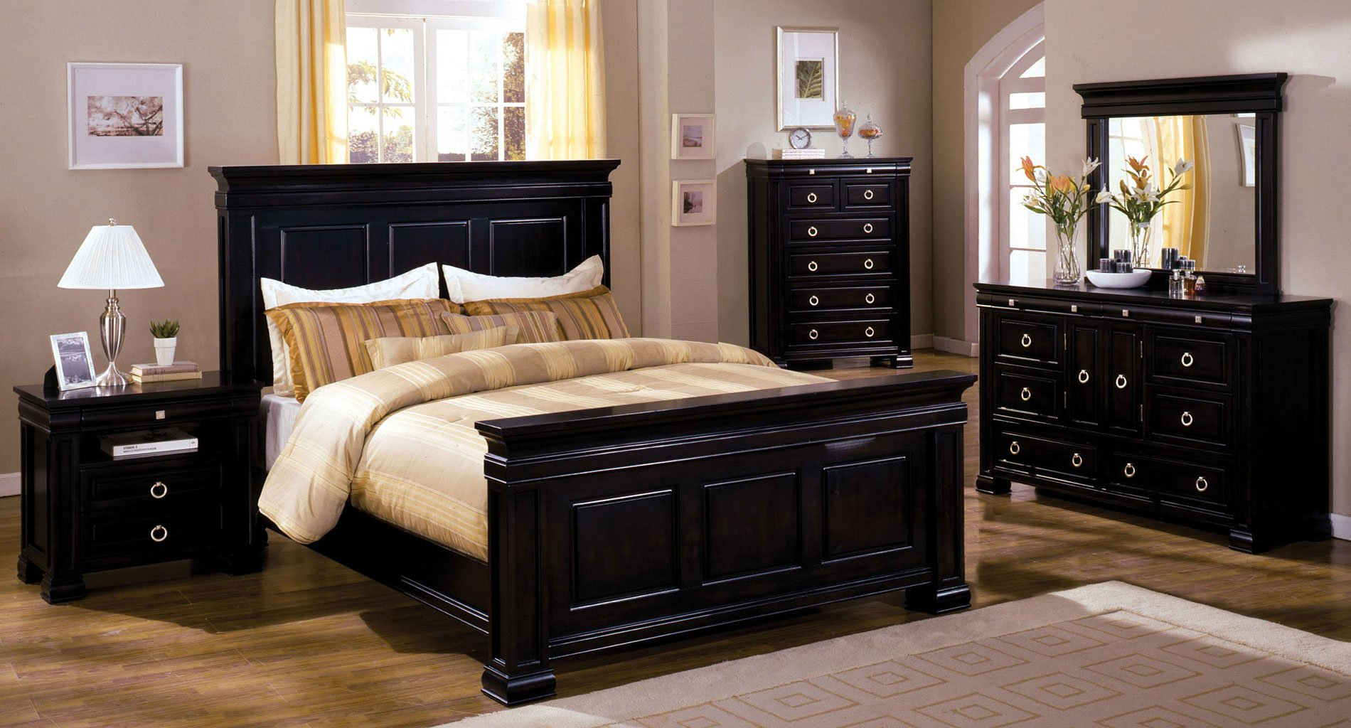 Cambridge Panel Bedroom Set Espresso Bedroom Sets Bedroom Furniture B