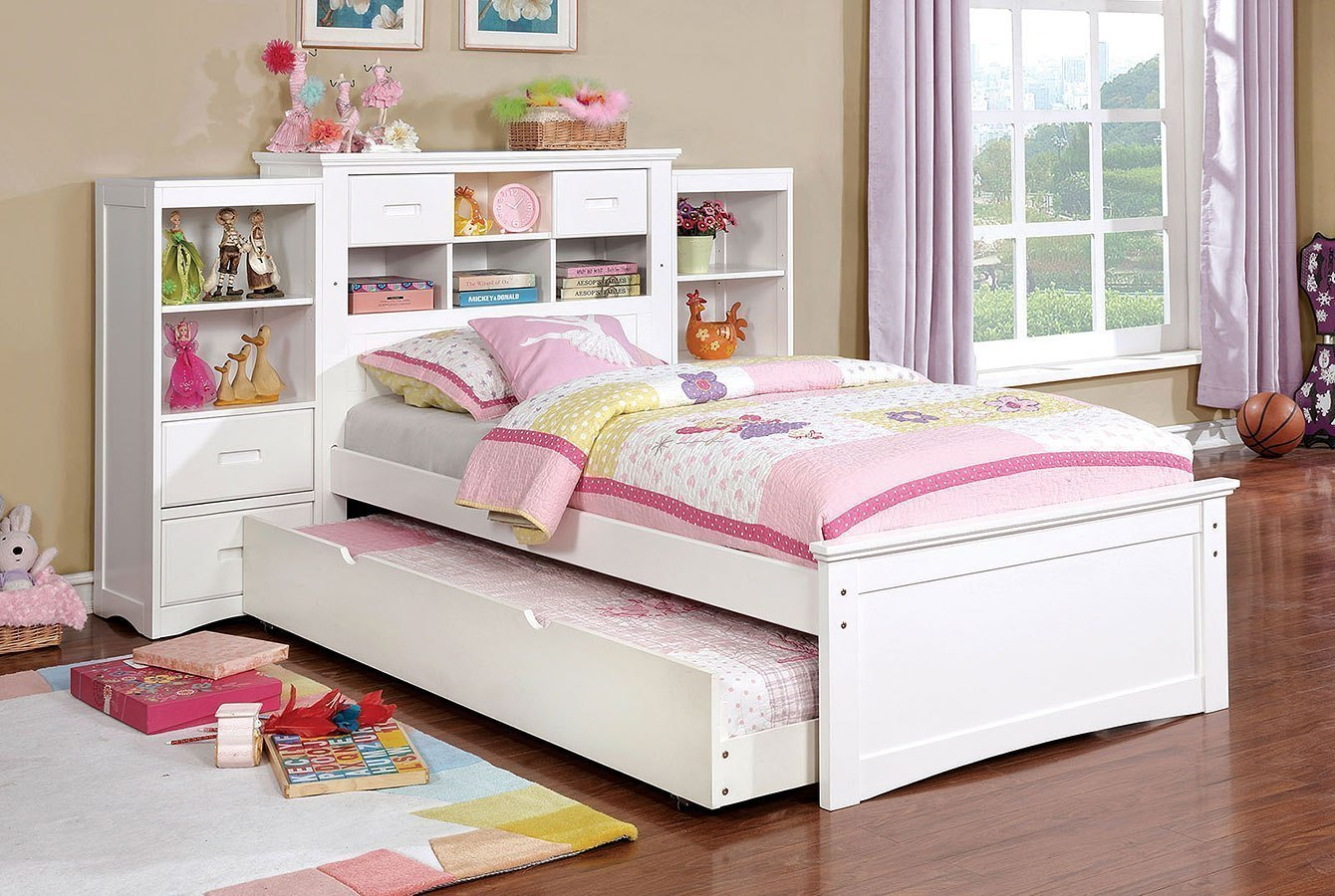 Pearland Youth Bookcase Bedroom Set (White) By Furniture