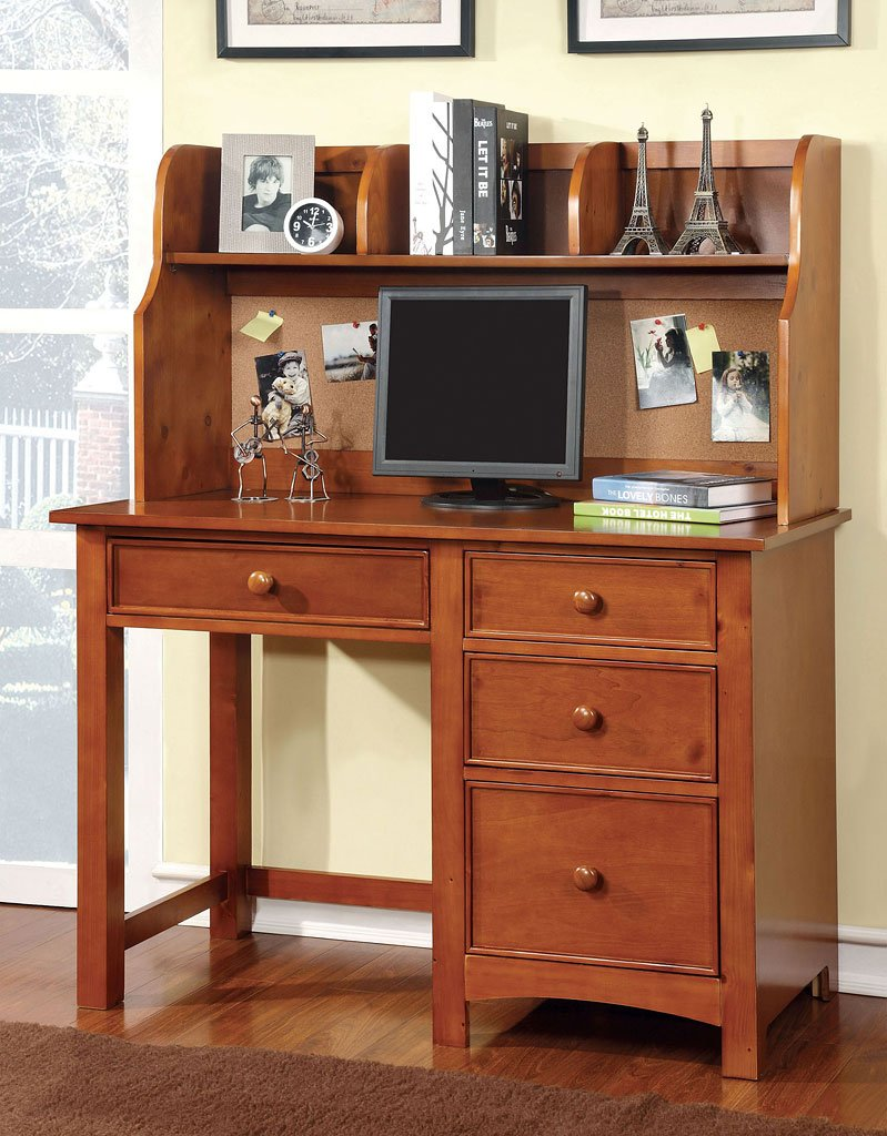 omnus youth desk w hutch oak kids desks and hutches kids and youth furniture kids room. Black Bedroom Furniture Sets. Home Design Ideas