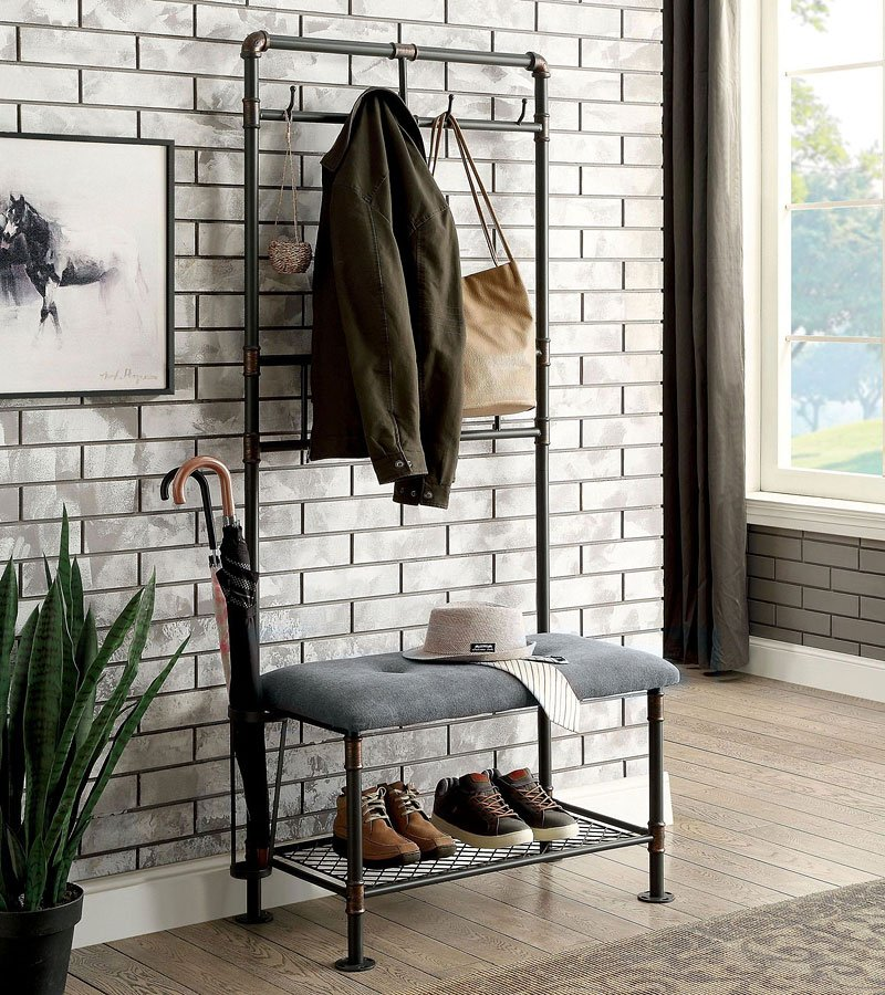 Kora 34 Inch Hallway Bench Accent Furniture And Home Accessories