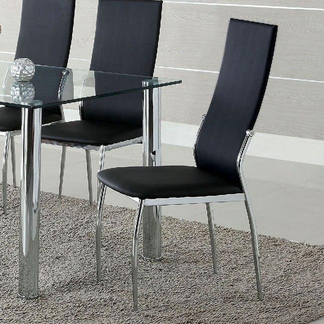 Oahu Side Chair (Black) (Set Of 2) By Furniture Of America