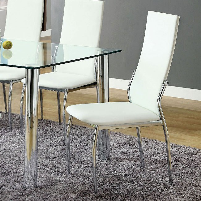 Oahu Side Chair (White) (Set Of 2) By Furniture Of America
