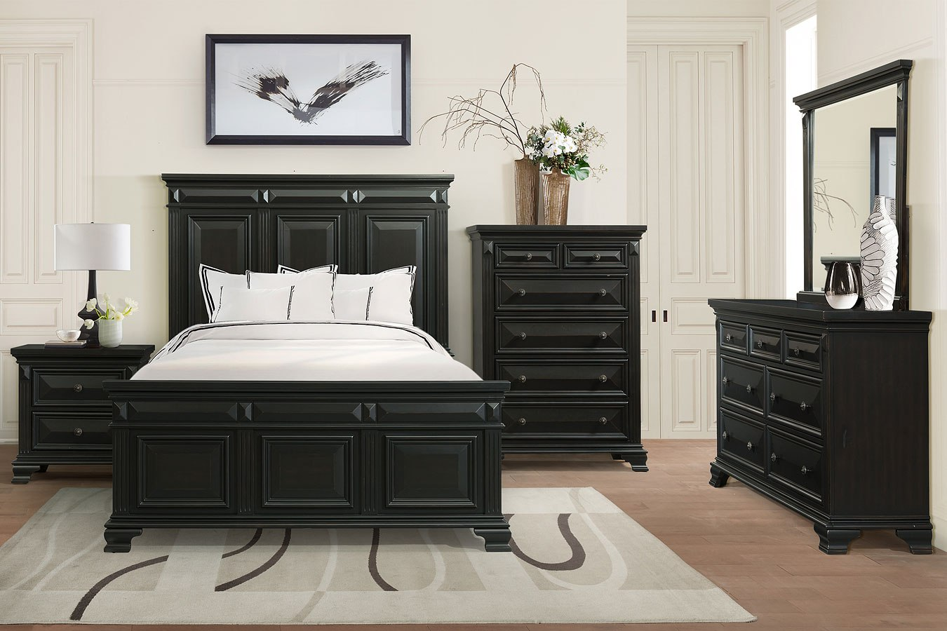 Calloway Bedroom Set (Antique Black)