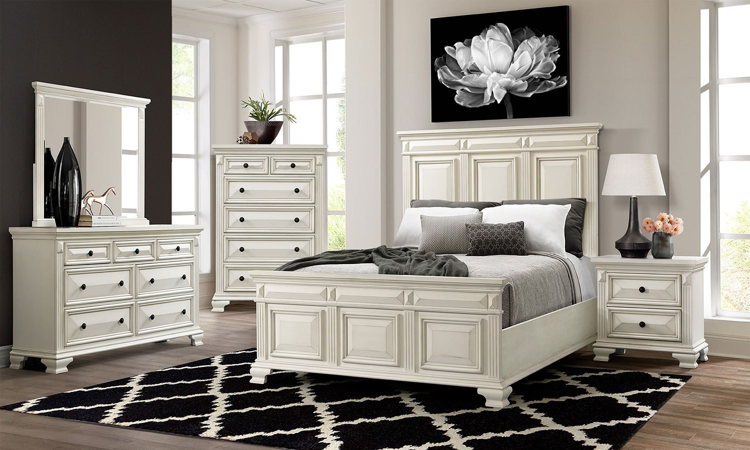 Calloway Bedroom Set White By Elements Furniture