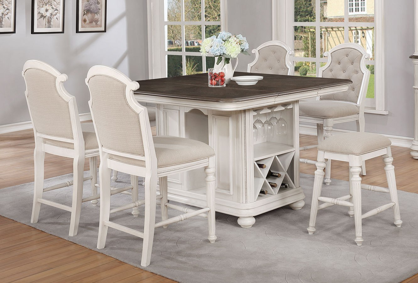 West Chester Kitchen Island Set w/ Chair Choices