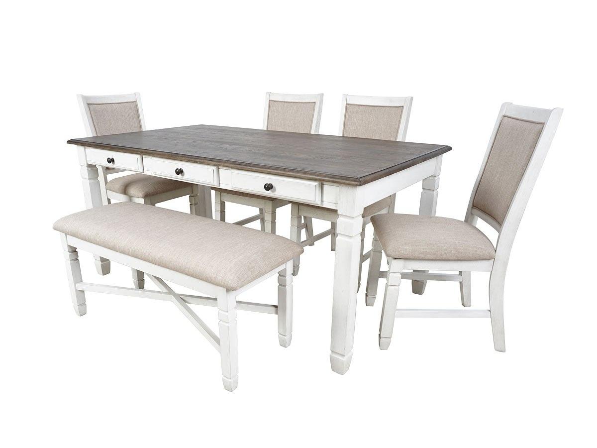 Prairie Point Rectangular Dining Room Set (Cottage White)
