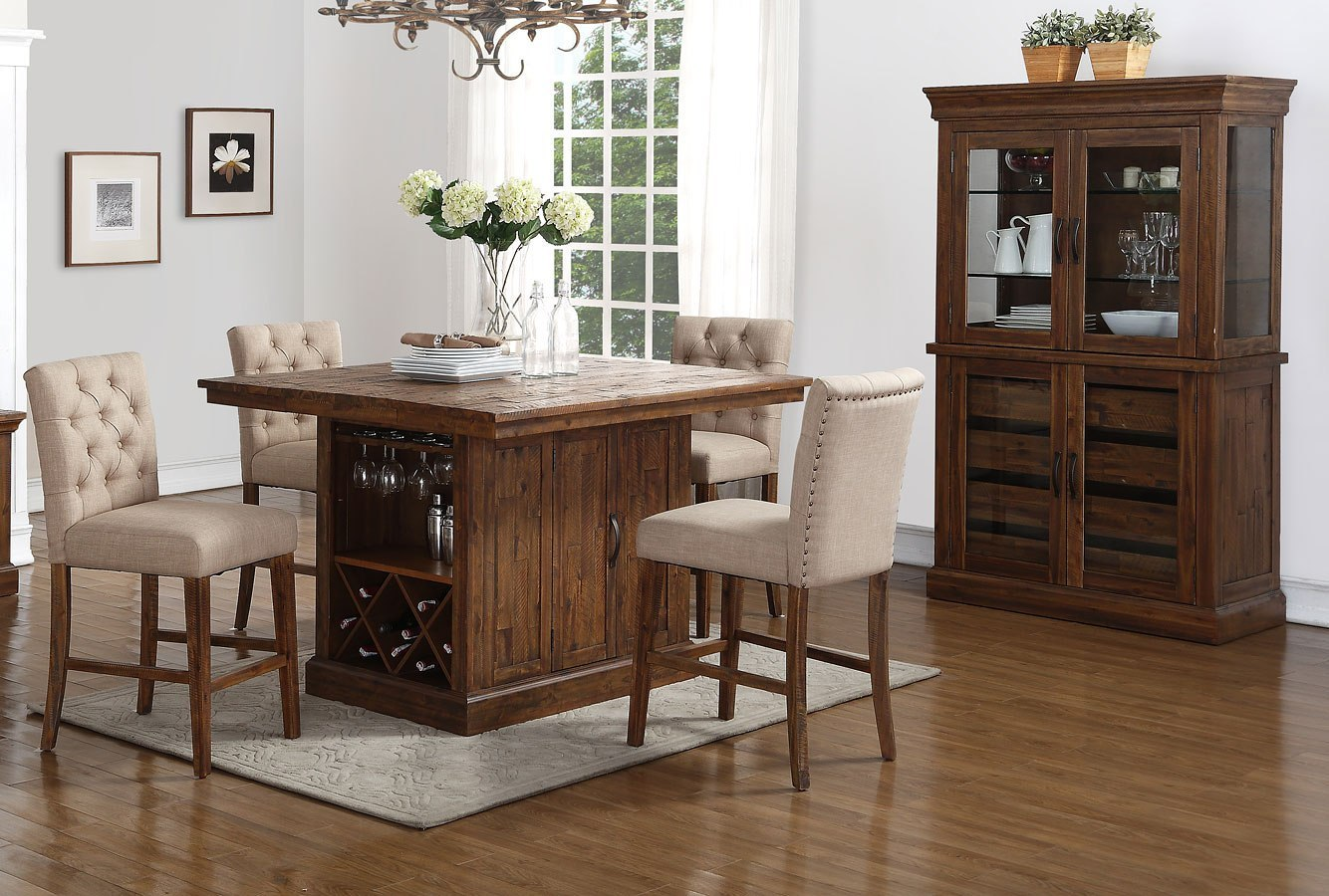Normandy Counter Height Island Set By New Classic Furniture