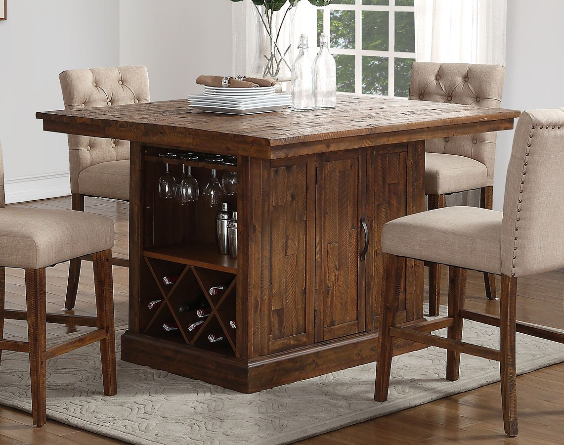 Normandy Counter Height Island Table By
