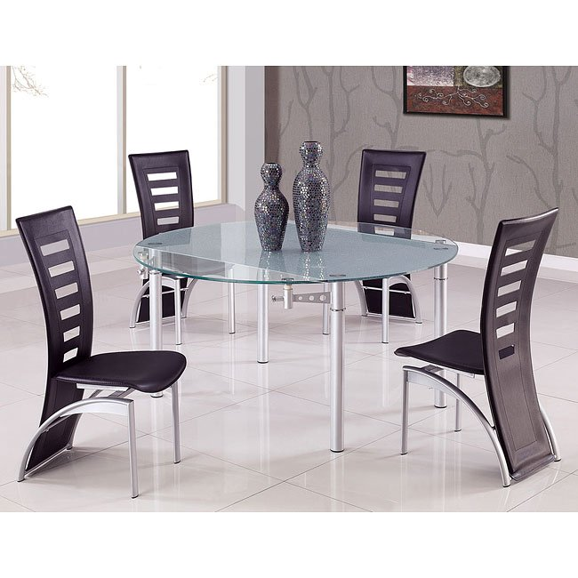 D135 Dining Set W/ Multi Color Chairs By Global Furniture