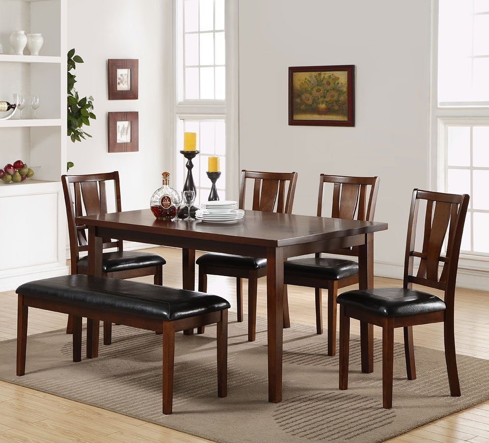 Bench Dining Room Set: Dixon 6-Piece Dining Room Set W/ Bench By New Classic