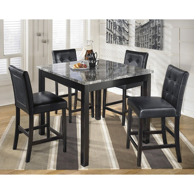 Ashley Furniture Hyland 5 Piece Dining Set With: Maysville 5-Piece Counter Height Dining Set By Signature