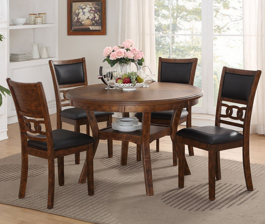 Gia 5 Piece Dining Room Set (Brown)
