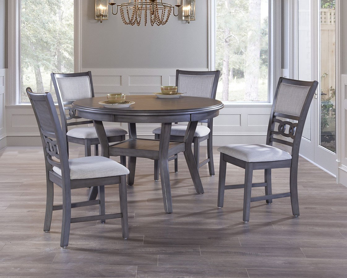 Gia 5-Piece Dining Room Set (Gray) By New Classic Furniture