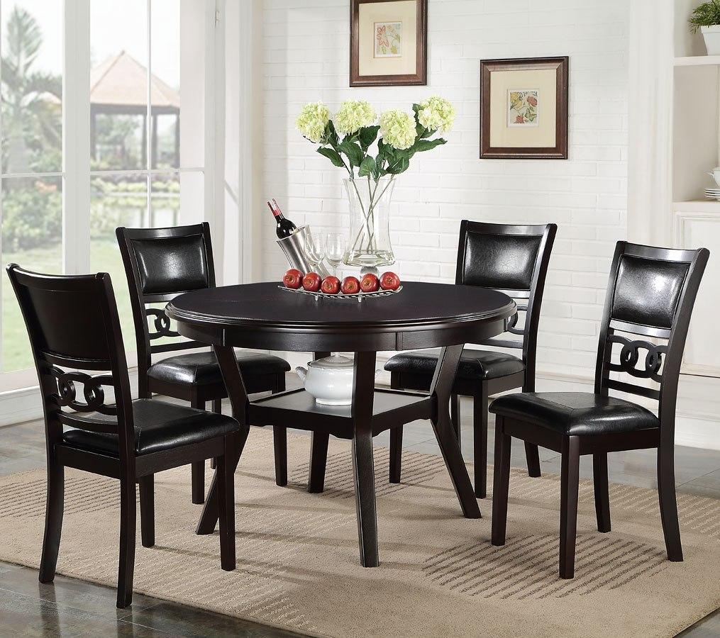 50 Best Dining Room Sets For 2017: Gia 5-Piece Round Dining Room Set (Ebony) By New Classic