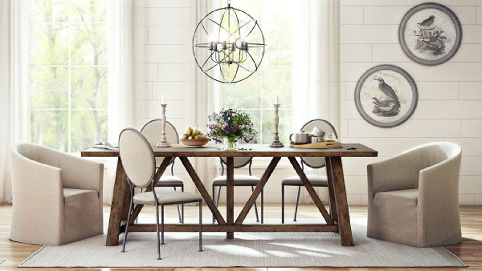 Modern Authentic Light Oak Dining Room Set By Accentrics Home