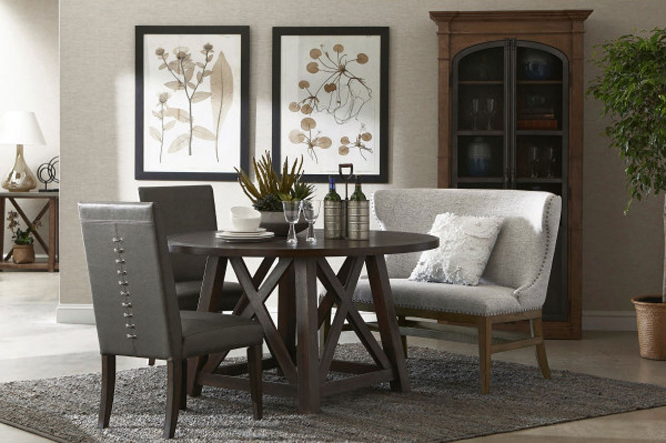 modern round dining room sets | Modern Authentic Round Dining Room Set by Accentrics Home ...