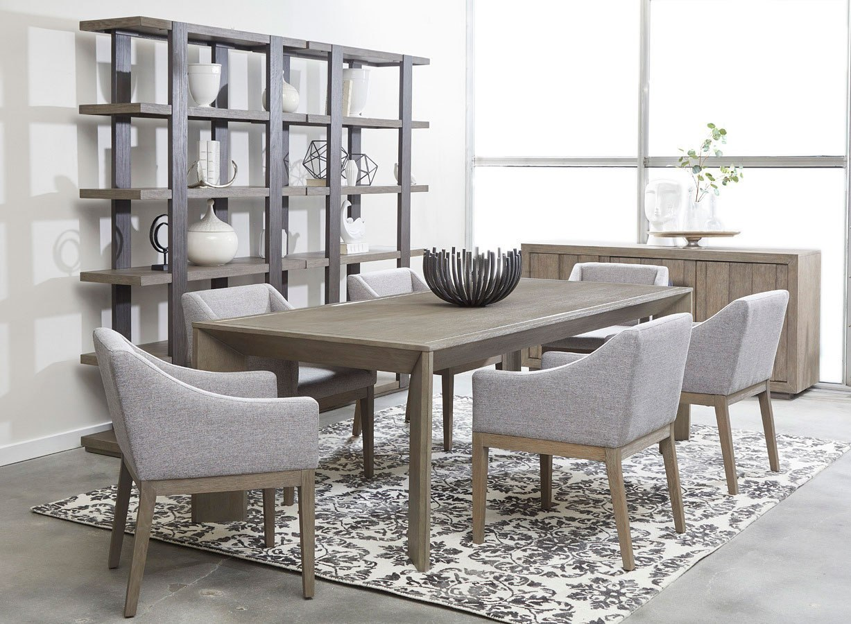 tru modern rectanglular dining room set by accentrics home