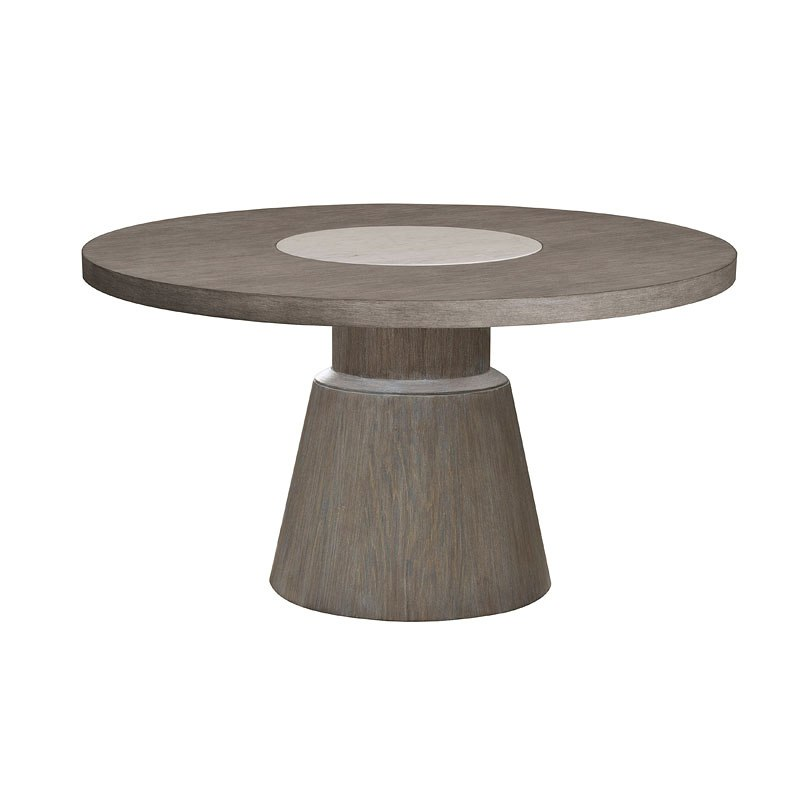 tru modern round marble insert dining table by accentrics