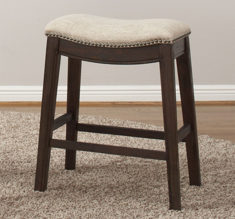 Transitional Backless Counter Height Stool