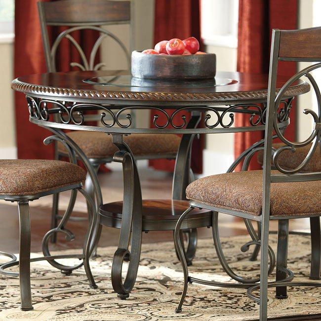 Signature Design By Ashley Glambrey Round Dining Table And: Glambrey Dining Table By Signature Design By Ashley, 1