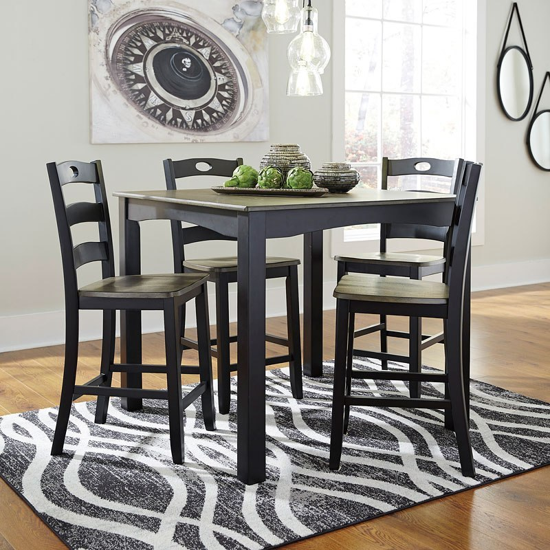 Froshburg 5 Piece Counter Height Dining Room Set