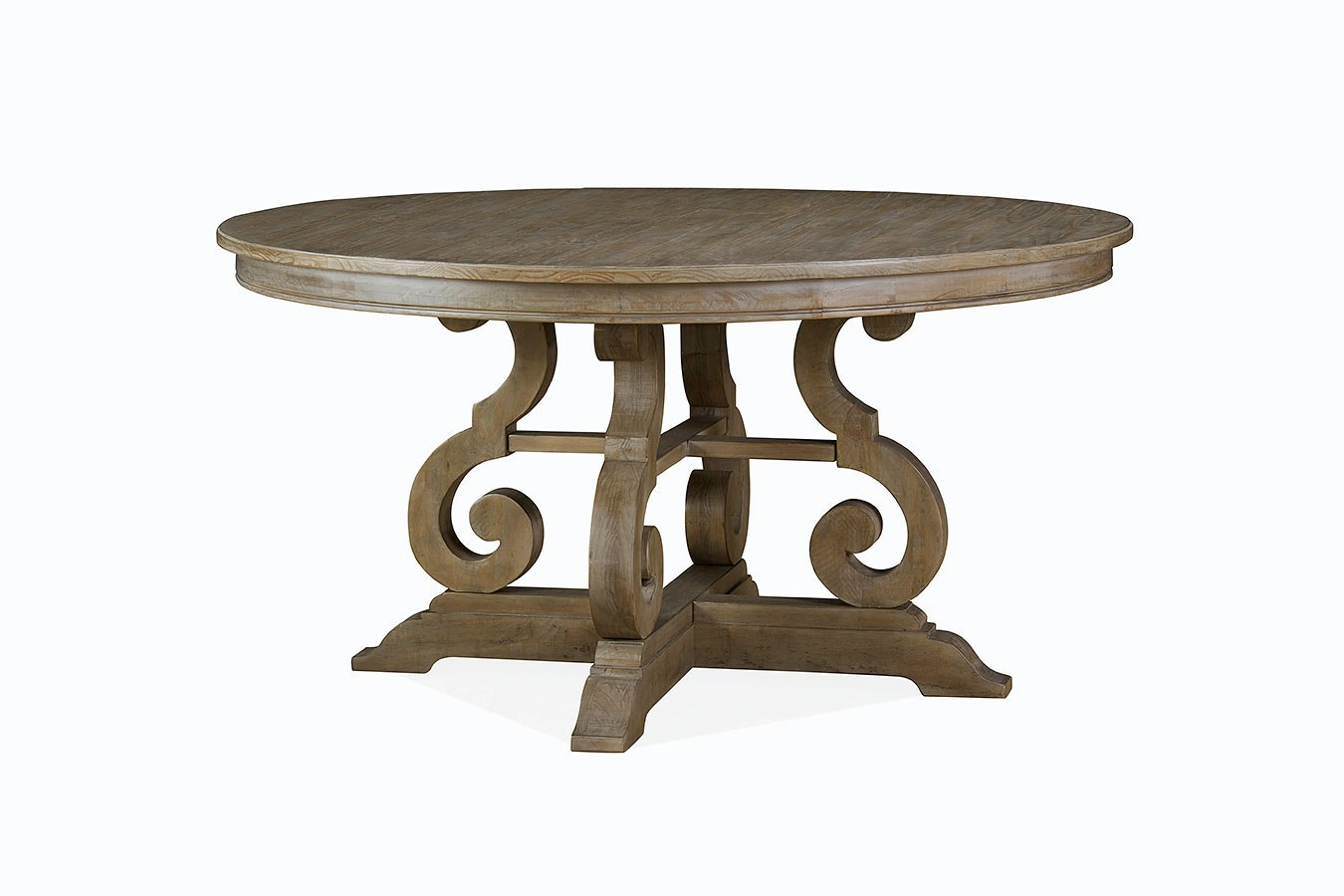 Tinley Park 60 Inch Round Dining Table By Magnussen Furniturepick