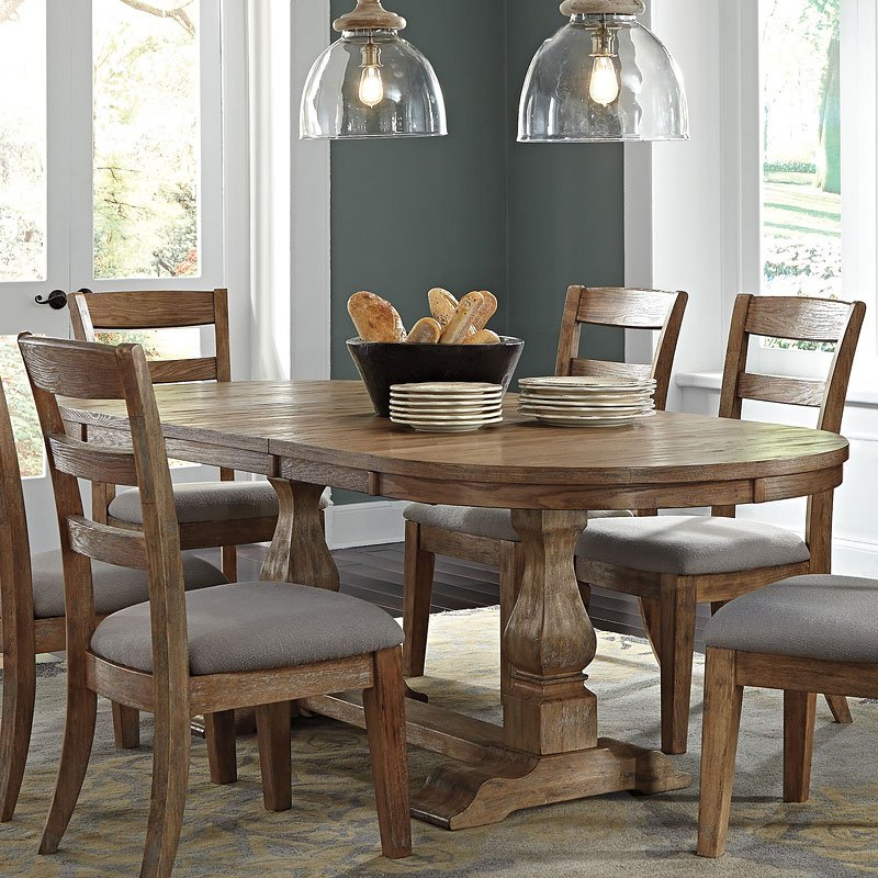 Rooms To Go Dining Table: Danimore Oval Extension Dining Table