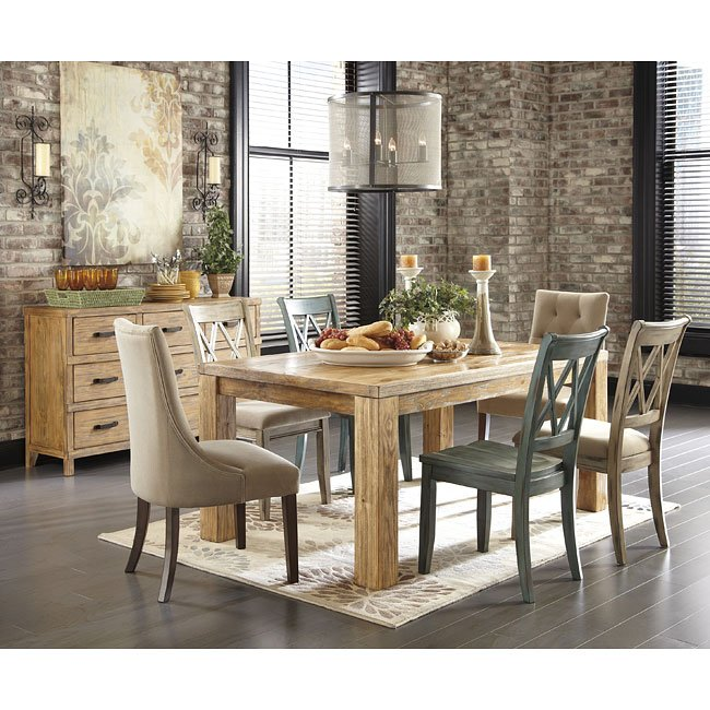 Cool Mestler Customizable Dining Set W Honey Pine Table Home Interior And Landscaping Dextoversignezvosmurscom