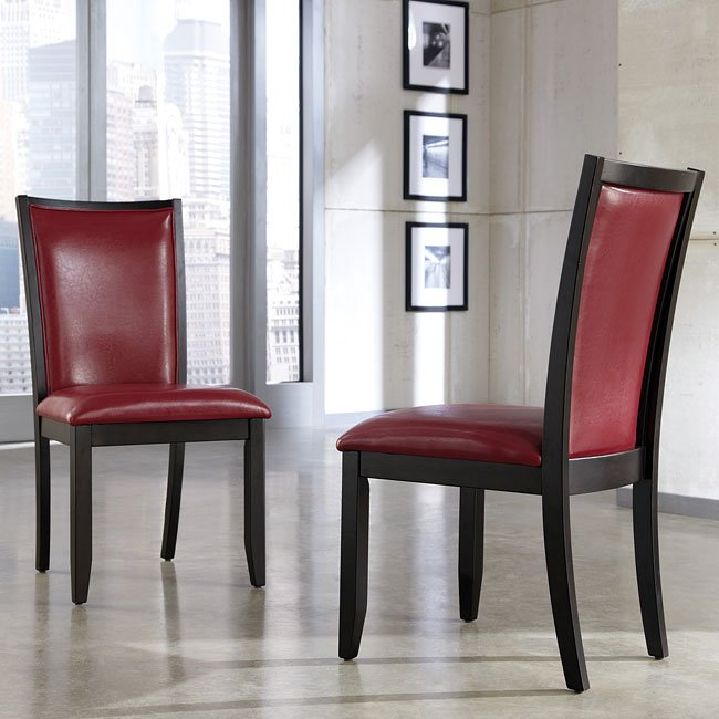 Red Dining Room Furniture: Trishelle Dining Room Set W/ Red Chairs By Signature
