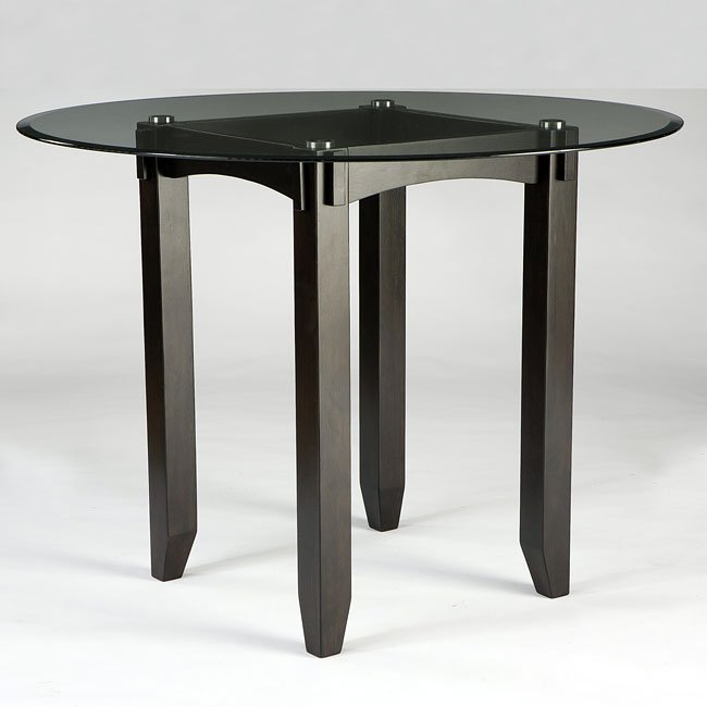 Trishelle Glass Top Counter Height Table