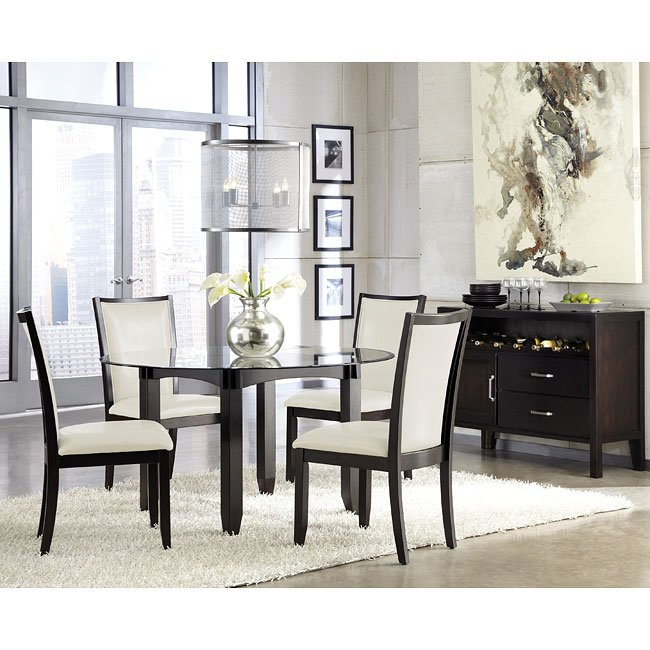 Cream Dining Set: Trishelle Dining Room Set W/ Cream Chairs By Signature