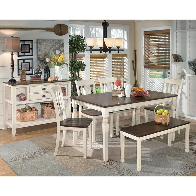 Whitesburg Dining Room Set w/ Bench