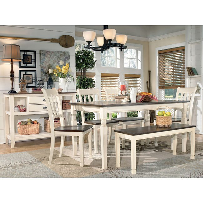 Whitesburg Dining Room Set W Bench By Signature Design By