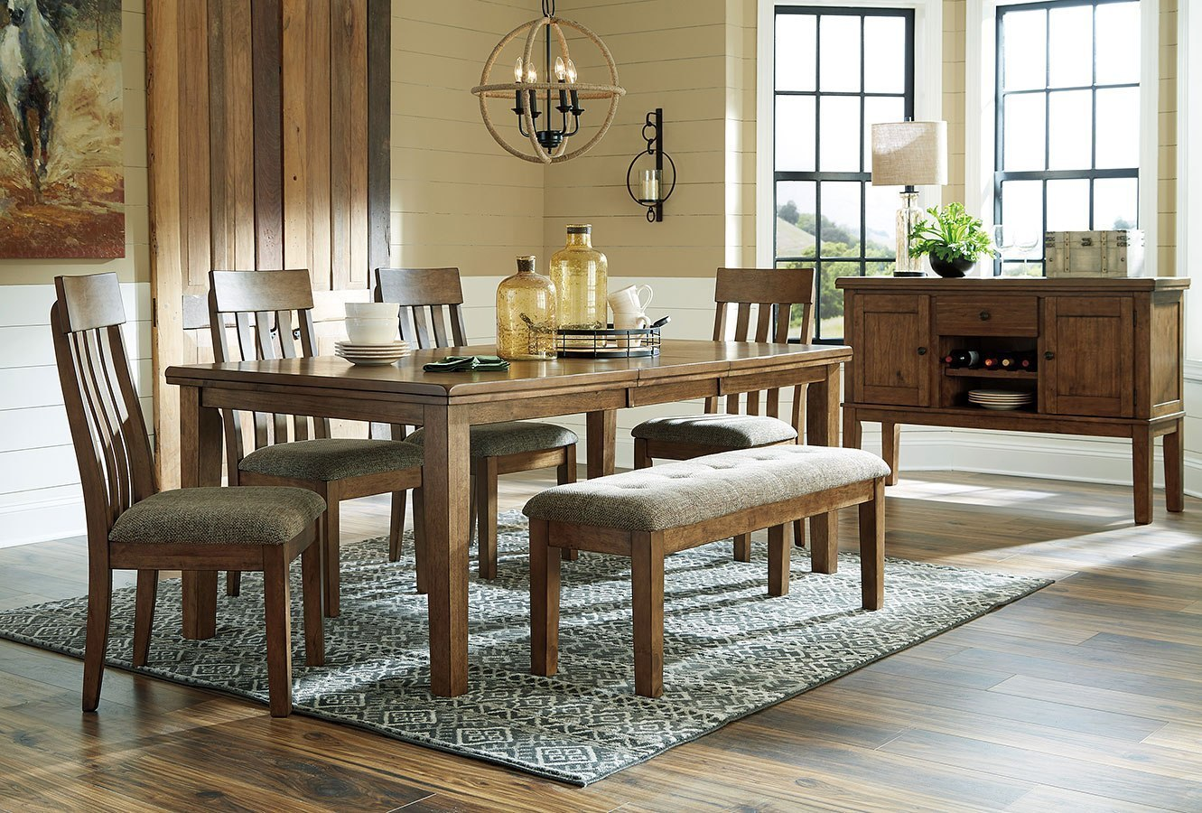 Flaybern Dining Room Set w/ Bench