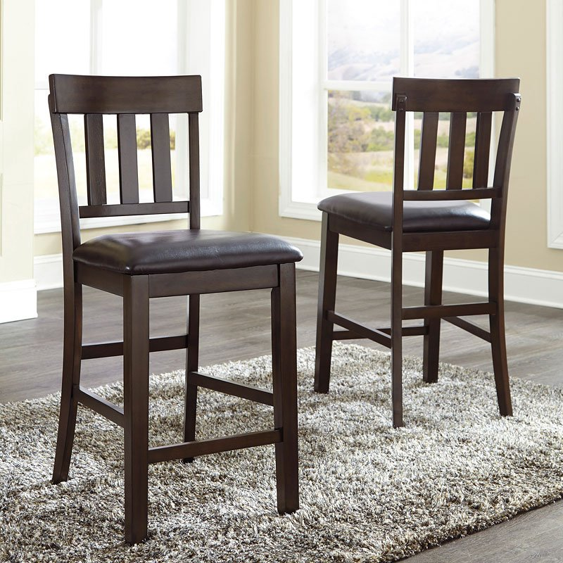 Set Of 2 Kitchen Counter Height Chairs With Microfiber: Haddigan Counter Height Chair (Set Of 2) By Signature
