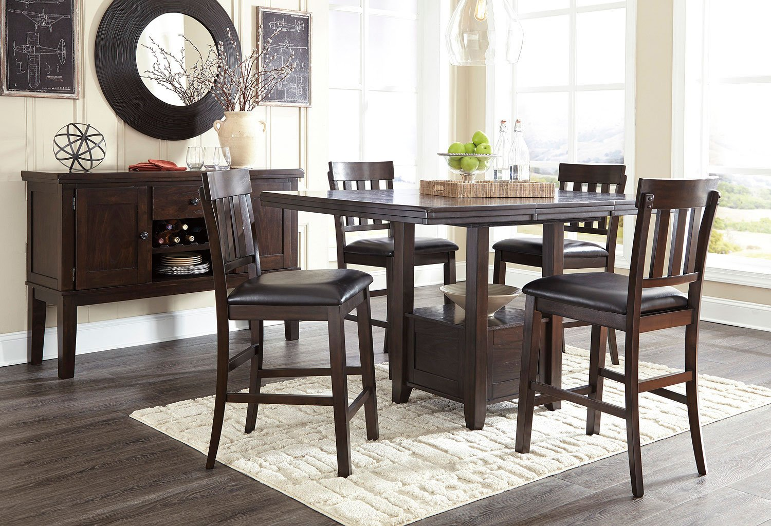 Haddigan counter height dining room set