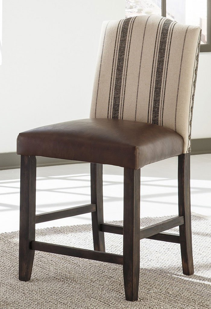 Moriann Faux Leather Seat Barstool Set Of 2 Barstools