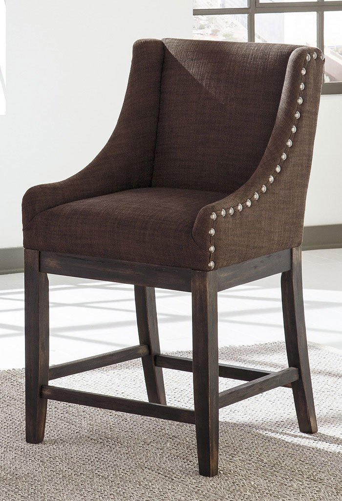 Moriann Brown Wing Back Barstool Set Of 2 Home Bar And