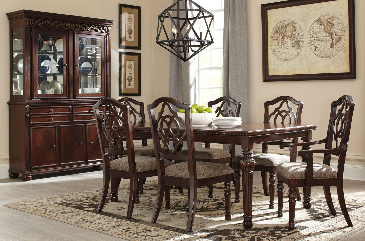Leahlyn Reddish Brown Dining Room Set Dining Room And