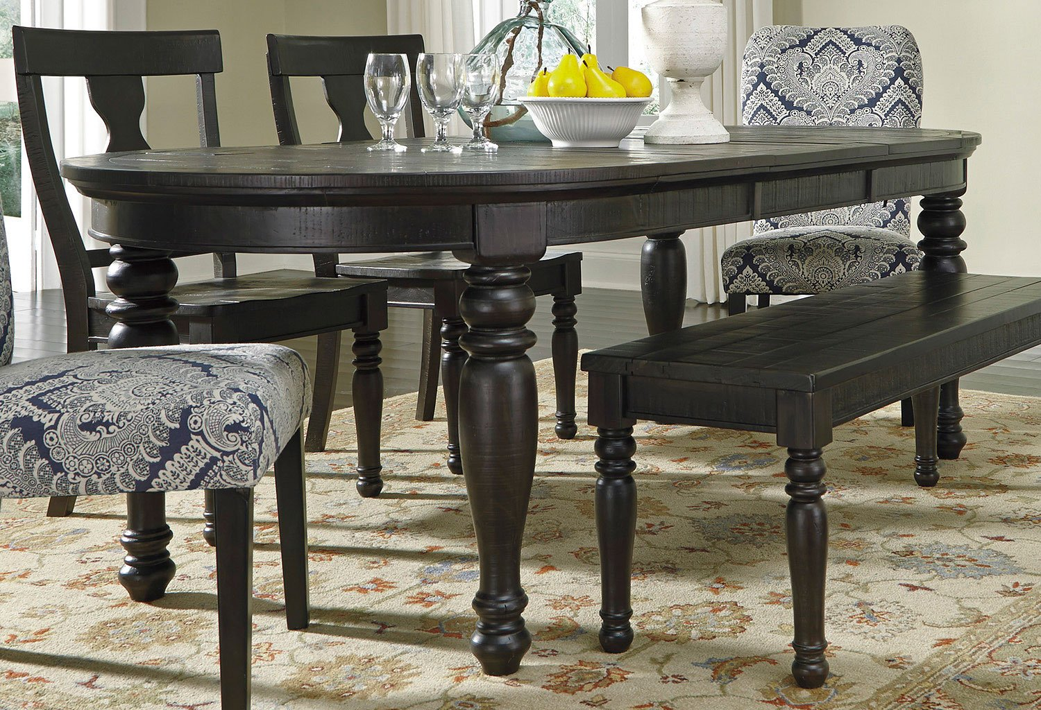 Sharlowe Oval Extension Dining Table Dining Tables