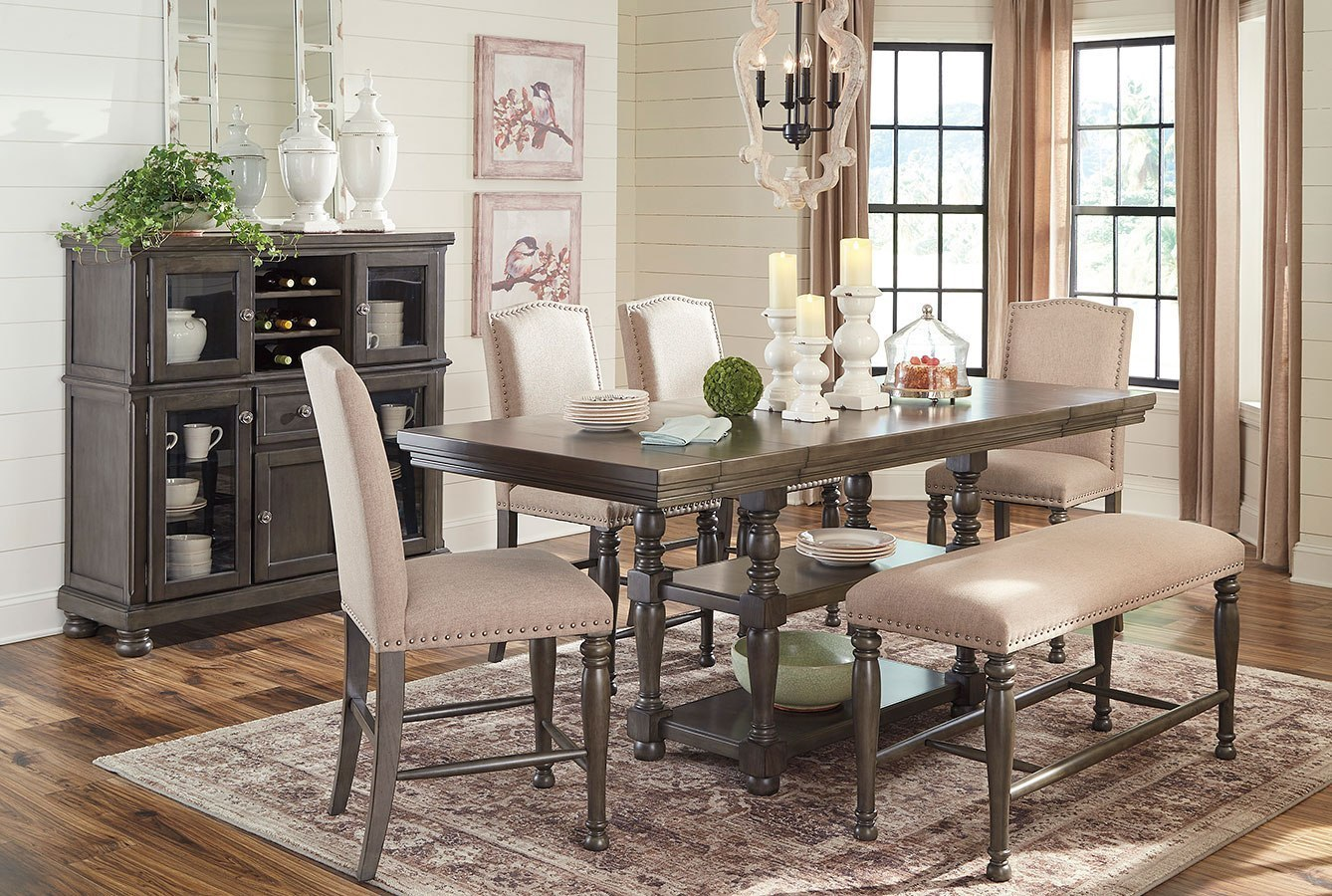 Audberry Counter Height Dining Room Set W/ Bench By Signature Design By Ashley