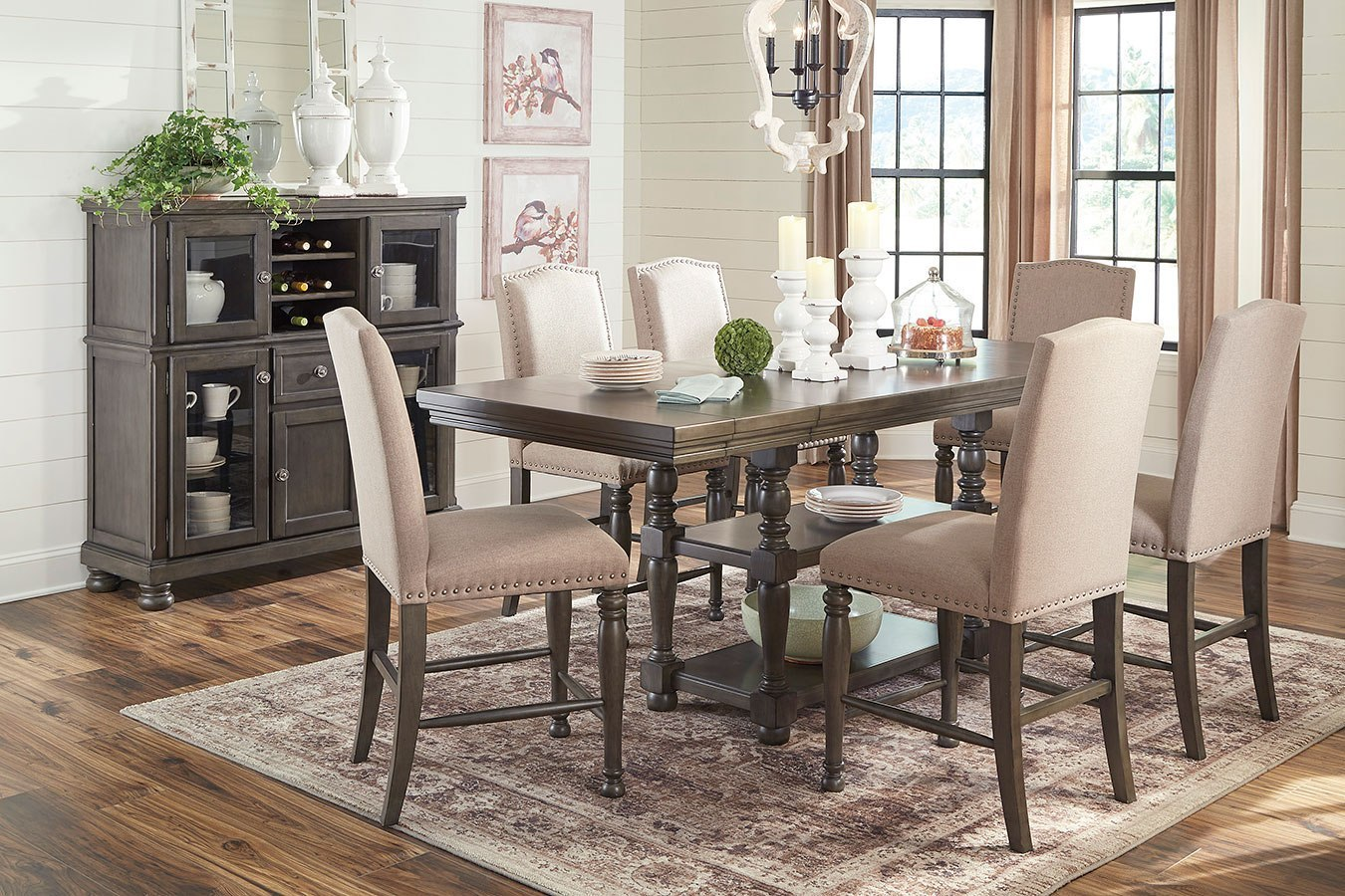 Audberry Counter Height Dining Room Set by Signature ...
