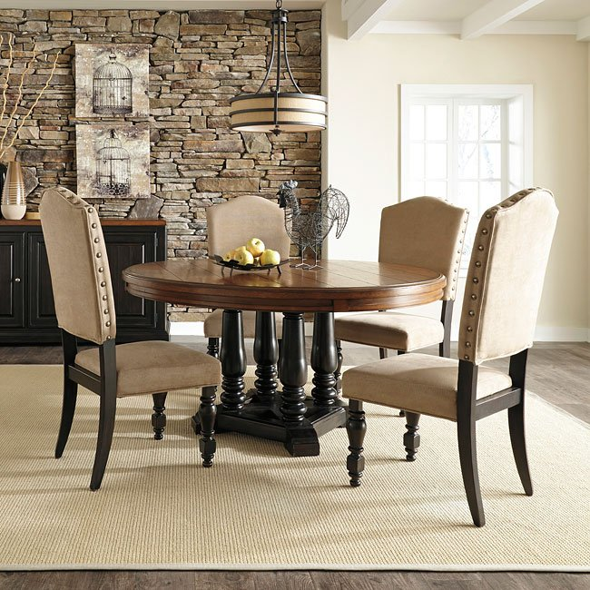 Ashley Furniture Closeout: Shardinelle Round Dining Room Set By Benchcraft