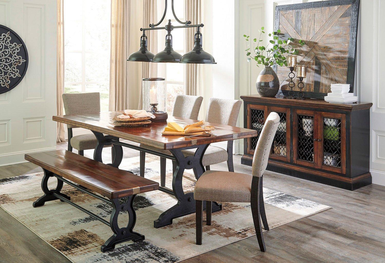 Zurani Dining Room Set W Bench By Signature Design Ashley