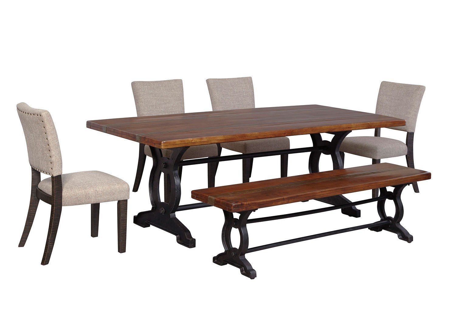 Zurani Dining Room Set W Bench By Signature Design By