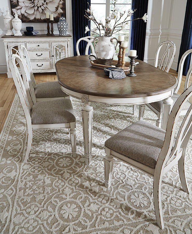 Oval Dining Room Table: Realyn Oval Dining Room Set By Signature Design By Ashley